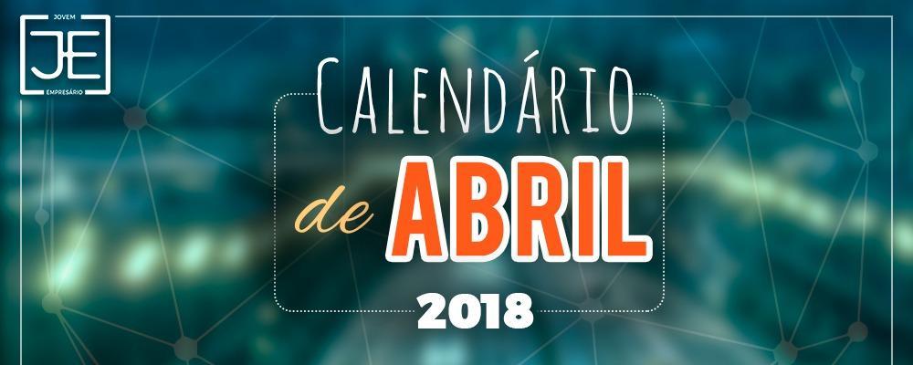 Calendário de Eventos - Abril 2018