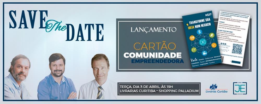 Cartão PROJETO JOVEM EMPRESÁRIO - LANÇAMENTO