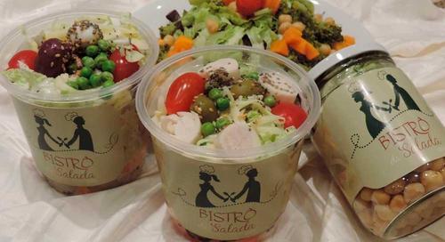 Saladas prontas para consumir em qualquer local