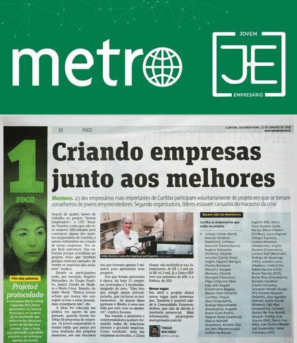 Projeto Jovem Empresário ganha destaque em jornal de grande alcance em Curitiba!